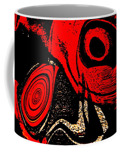 Delusion Coffee Mug featuring the digital art Paranoid by Max Steinwald