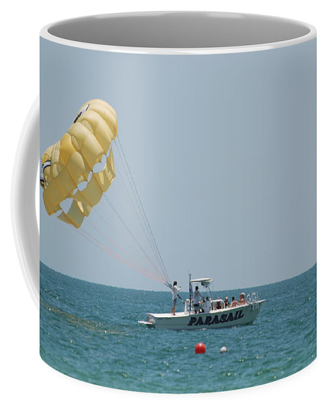 Nautical Coffee Mug featuring the photograph Parasail by Rob Hans