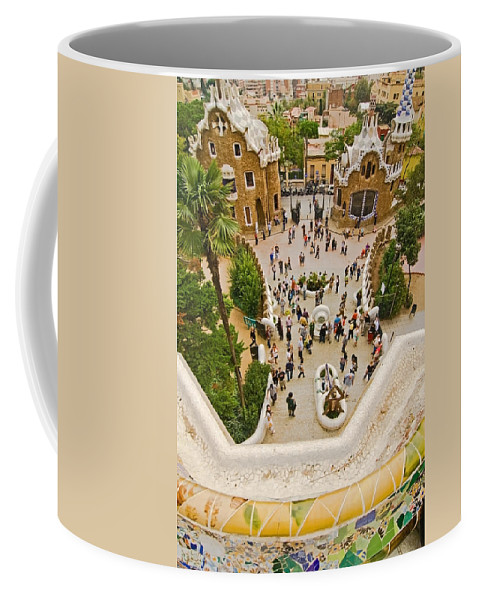 Parc Guell Coffee Mug featuring the photograph Parc Guell In Barcelona by Sven Brogren