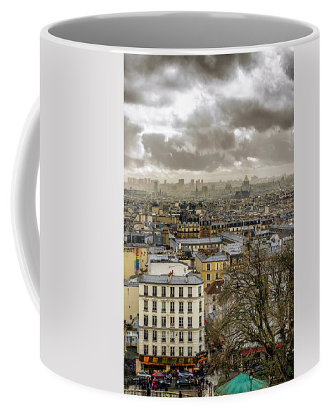Basilica Coffee Mug featuring the photograph Paris As Seen From The Sacre-coeur by Pablo Lopez