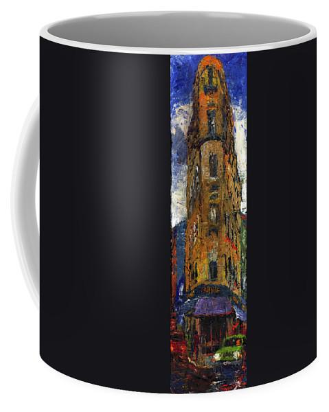 Oil Coffee Mug featuring the painting Paris Hotel 7 Avenue by Yuriy Shevchuk