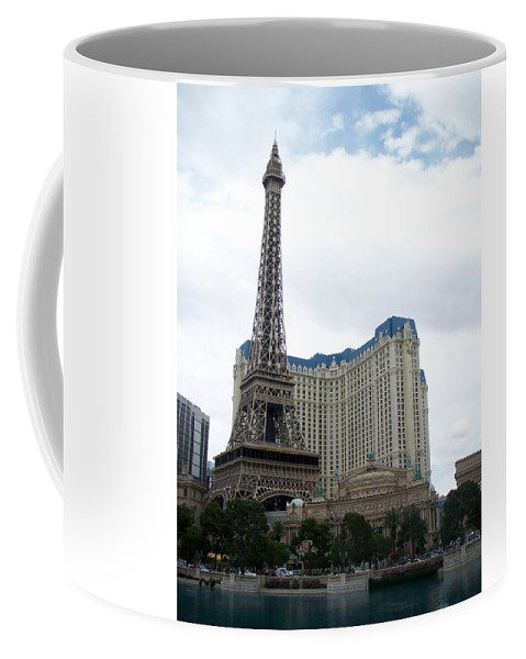 Bellagio Coffee Mug featuring the photograph Paris Hotel by Anita Burgermeister