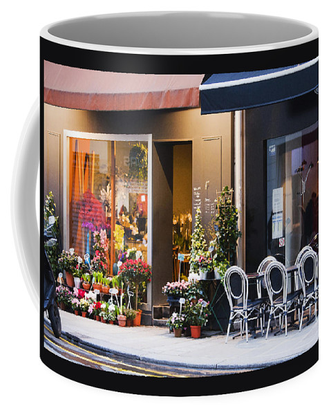 Cafe Coffee Mug featuring the photograph Paris Neighbors by Art Block Collections