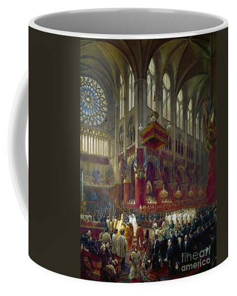 1841 Coffee Mug featuring the photograph Paris: Notre Dame, 1841 by Granger