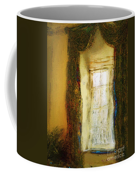 Curtains Coffee Mug featuring the painting Paris Oriental by RC DeWinter