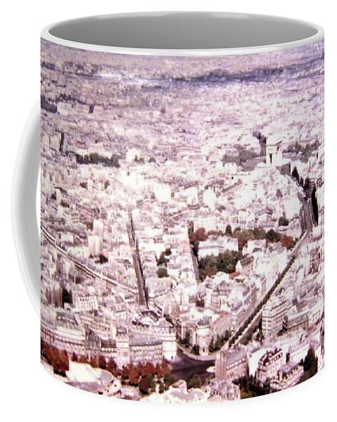 1955 Coffee Mug featuring the photograph Paris Panorama 1955 by Will Borden