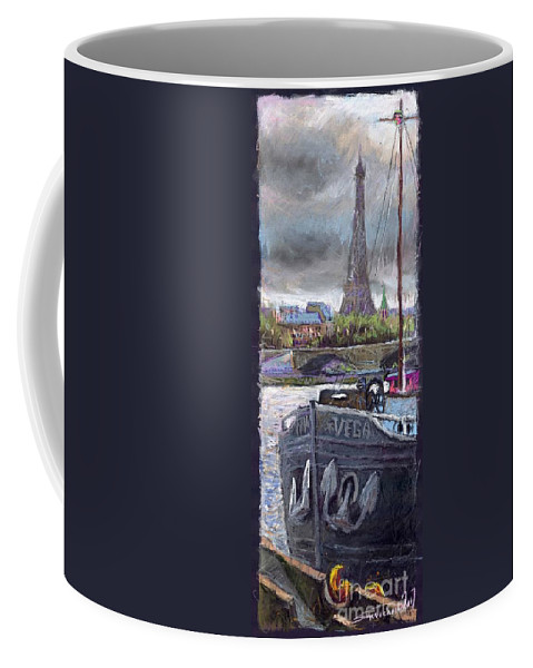 Pastel Coffee Mug featuring the painting Paris Pont Alexandre IIi by Yuriy Shevchuk