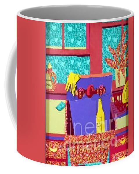 Kitchen Sink Coffee Mug featuring the mixed media Parish Kitchen by Debra Bretton Robinson