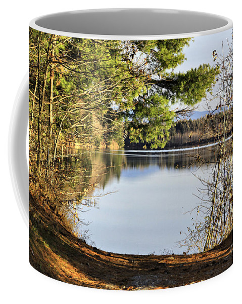 Water Coffee Mug featuring the photograph Park And View by Deborah Benoit