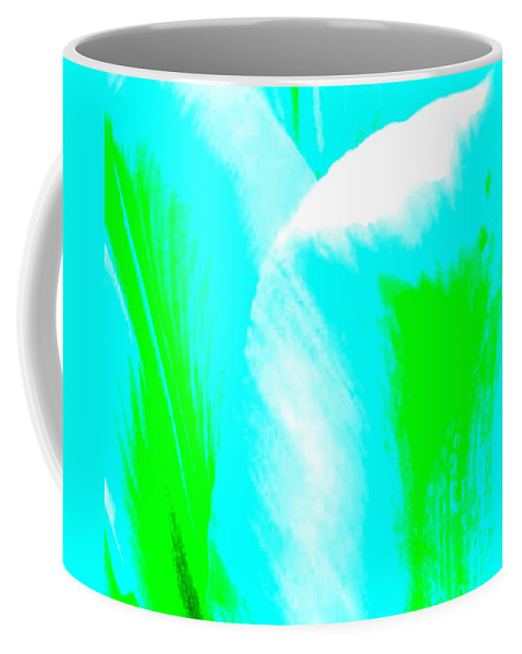 Abstract Coffee Mug featuring the digital art Park Avenue Tulip by Will Borden