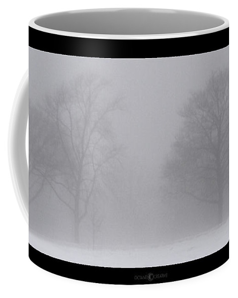 Fog Coffee Mug featuring the photograph Park In Winter Fog by Tim Nyberg