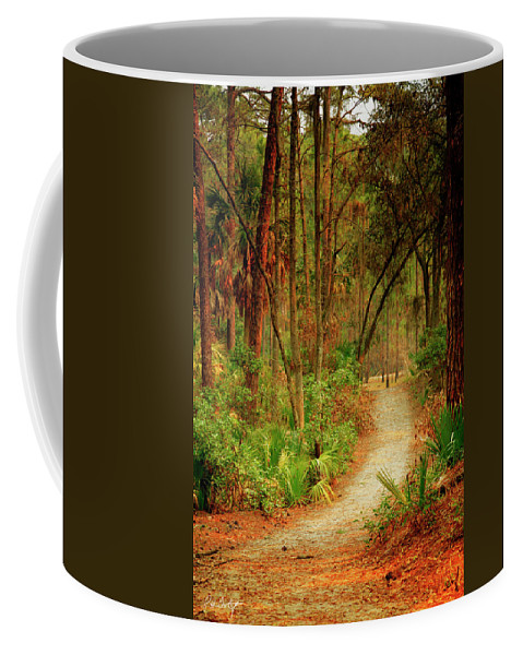 Canvas Coffee Mug featuring the photograph Park Path by Phill Doherty
