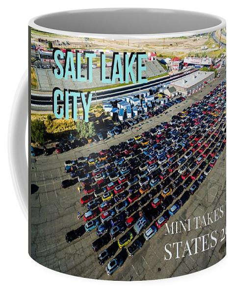 Mtts Coffee Mug featuring the photograph Park / Salt Lake City Rise/shine 1 W/text by That MINI Show