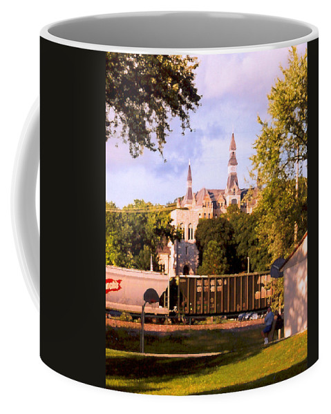 Landscape Coffee Mug featuring the photograph Park University by Steve Karol