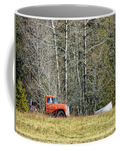 Old Truck Coffee Mug featuring the photograph Parked by William Tasker