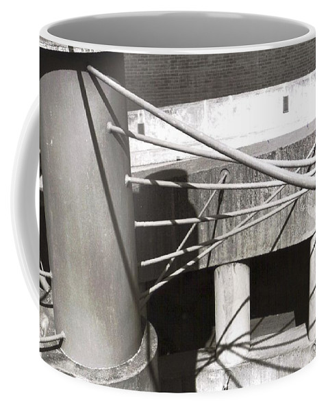 Black And White Photograph Coffee Mug featuring the photograph Parking Garage by Thomas Valentine