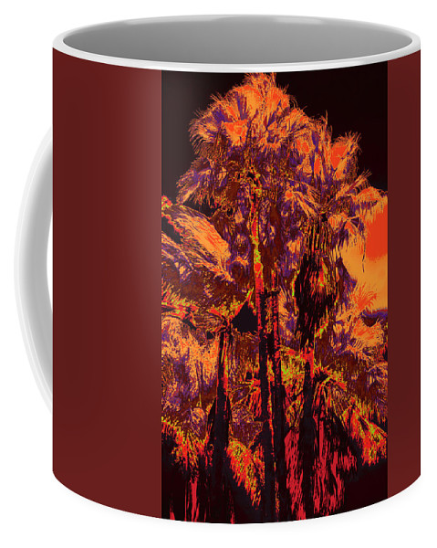 Palms Coffee Mug featuring the photograph Parking Lot Palms 1 11 by Gary Bartoloni