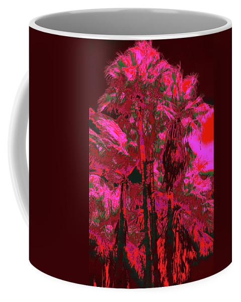 Palms Coffee Mug featuring the photograph Parking Lot Palms 1 12 by Gary Bartoloni