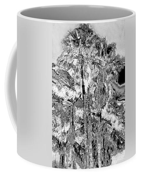 Palms Coffee Mug featuring the photograph Parking Lot Palms 1 21 by Gary Bartoloni