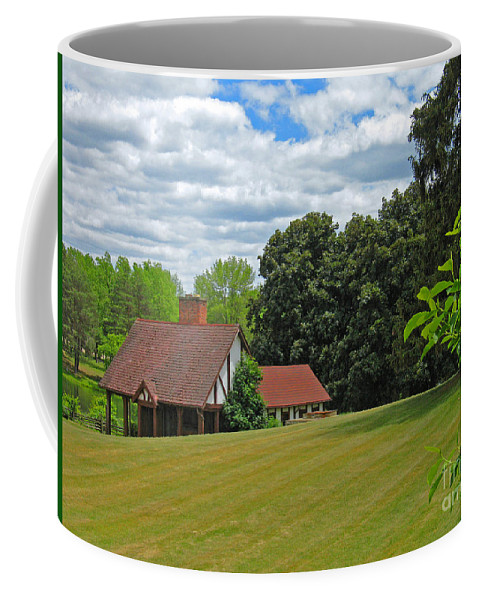Landscape Coffee Mug featuring the photograph Parkland Cottage by Ann Horn