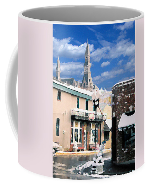 Landscape Coffee Mug featuring the photograph Parkville In Winter by Steve Karol
