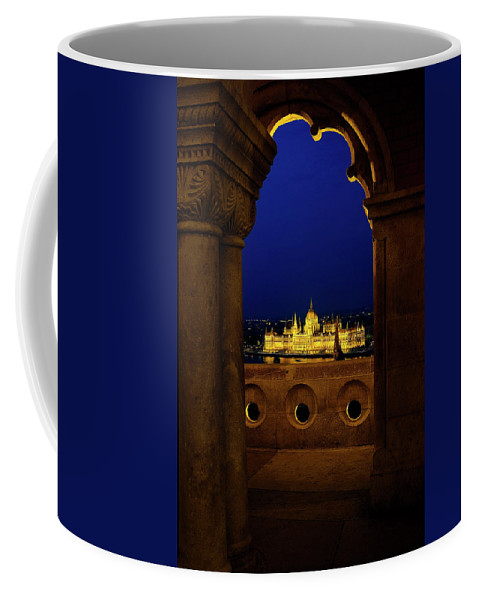 Architecture Coffee Mug featuring the photograph Parliament Framed by Russ Dixon
