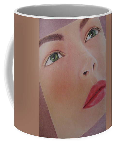 Woman Coffee Mug featuring the painting Part Of You 1 by Lynet McDonald