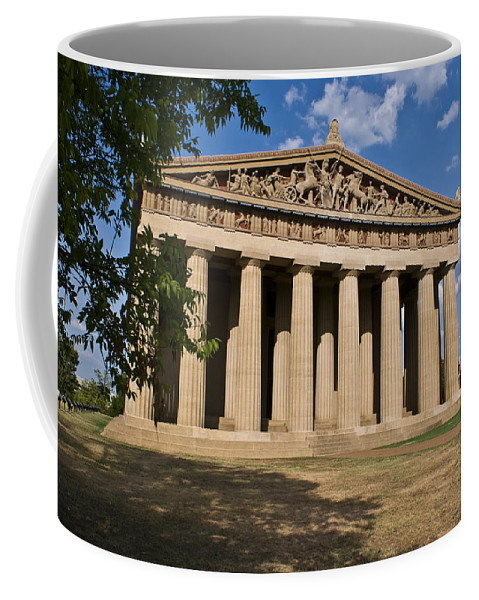 Parthenon Coffee Mug featuring the photograph Parthenon Nashville Tennessee by Douglas Barnett