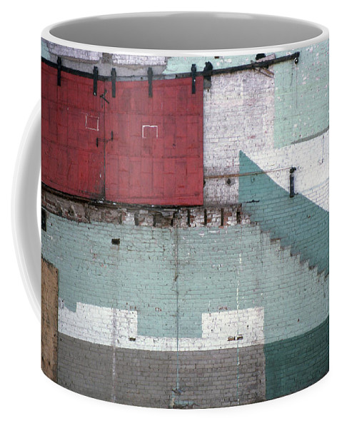 Abstract Coffee Mug featuring the photograph Partial Demolition by Richard Rizzo