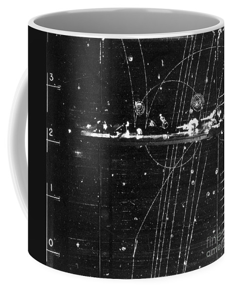 Science Coffee Mug featuring the photograph Particles Pass Through Lead Shielding by Science Source