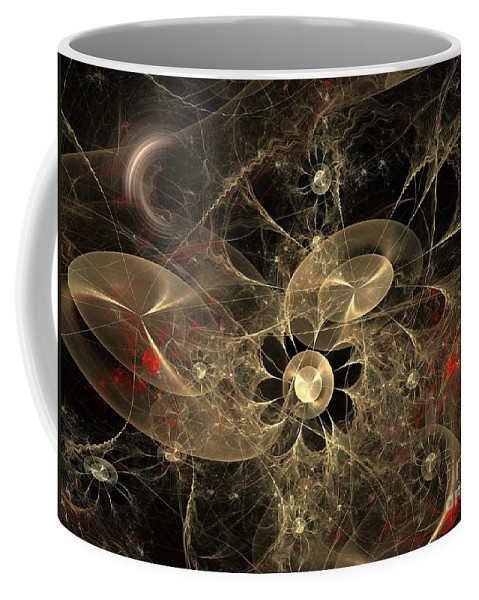 Apophysis Coffee Mug featuring the digital art Party Of The Universe by Deborah Benoit