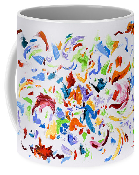 Red Coffee Mug featuring the painting Party by Shannon Grissom