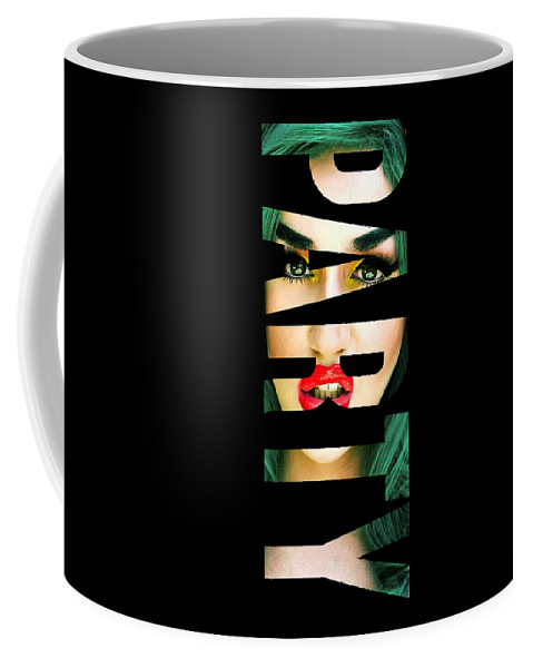 Party Coffee Mug featuring the digital art Party by Villian Burke