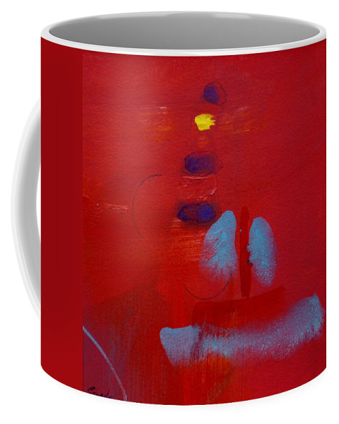 Lighthouse Coffee Mug featuring the painting Passing The Lighthouse by Charles Stuart
