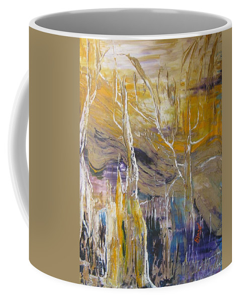 Swamp Coffee Mug featuring the painting Passing Through by Peggy Blood