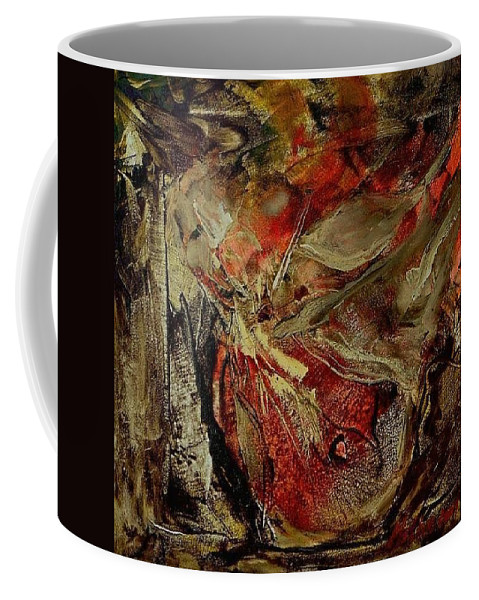 Abstract Coffee Mug featuring the painting Passion  by Rome Matikonyte