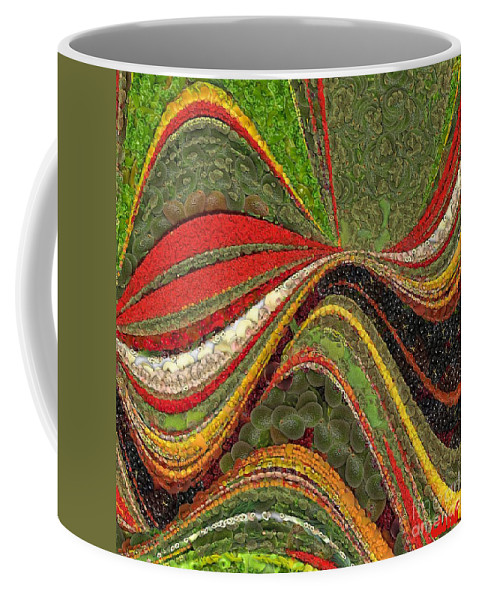 Digital Art Painting Coffee Mug featuring the painting Passion by Dragica Micki Fortuna