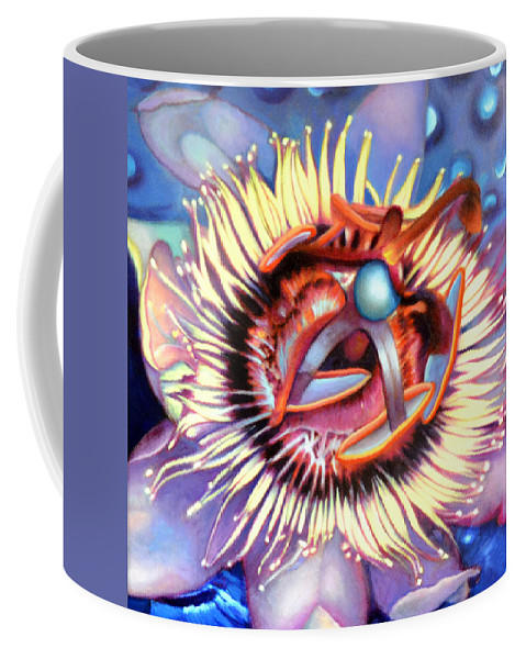 Passion Flower Coffee Mug featuring the painting Passion Flower by Anni Adkins