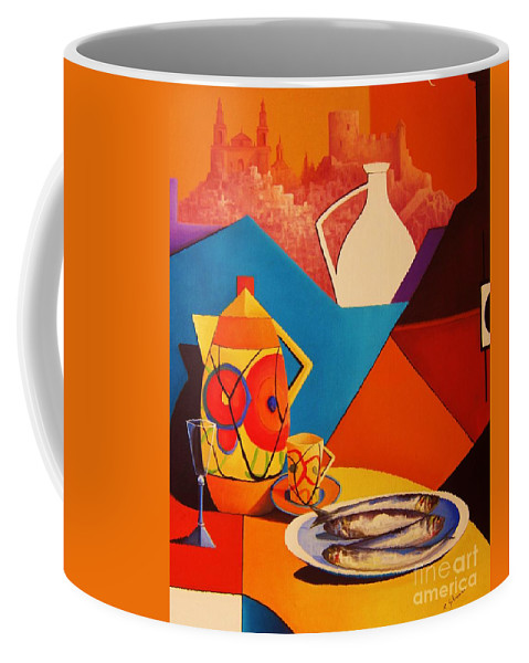 Original Fine Art Coffee Mug featuring the painting Passion For Life.2 by Ray Gilronan