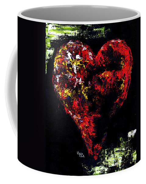 Heart Coffee Mug featuring the painting Passion by Hiroko Sakai