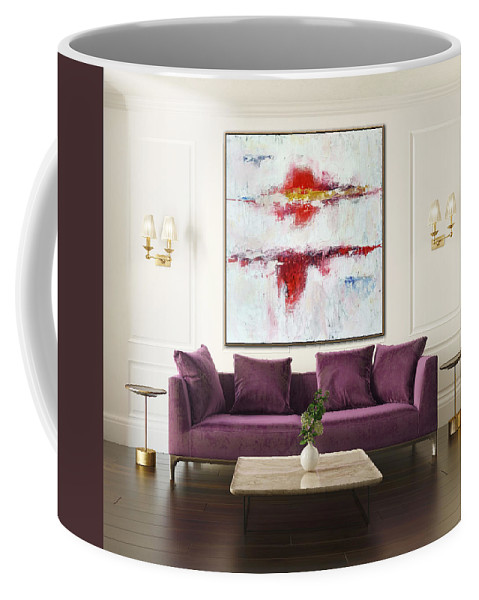 Abstract Painting Coffee Mug featuring the painting Passion by Sergio Anisimov