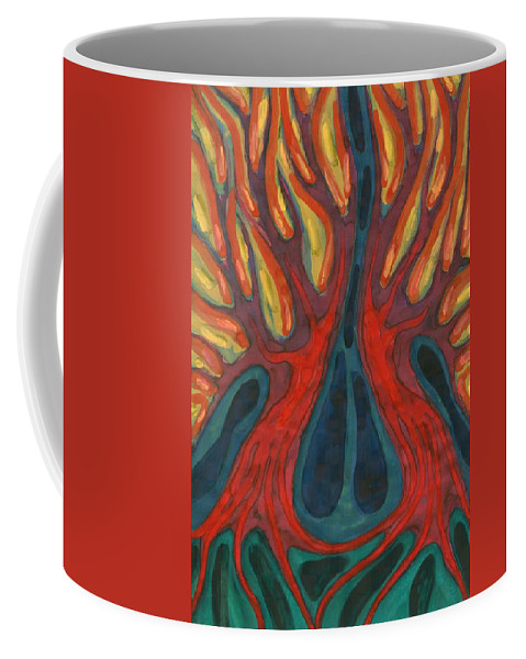 Colour Coffee Mug featuring the painting Passion by Wojtek Kowalski