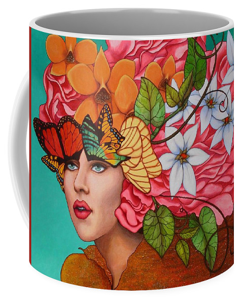 Woman Coffee Mug featuring the painting Passionate Pursuit by Helena Rose