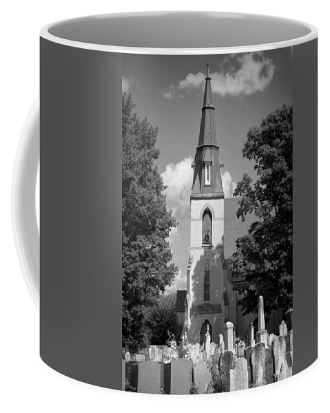 Blacj And White Coffee Mug featuring the photograph Past Congregation by Scott Wyatt