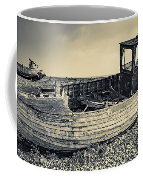 Anchored Coffee Mug featuring the photograph Past Dreams by Svetlana Sewell