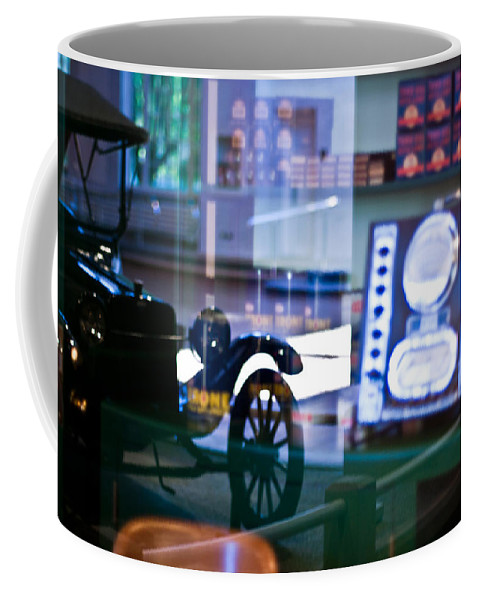 Car Coffee Mug featuring the photograph Past Reflections by Scott Wyatt
