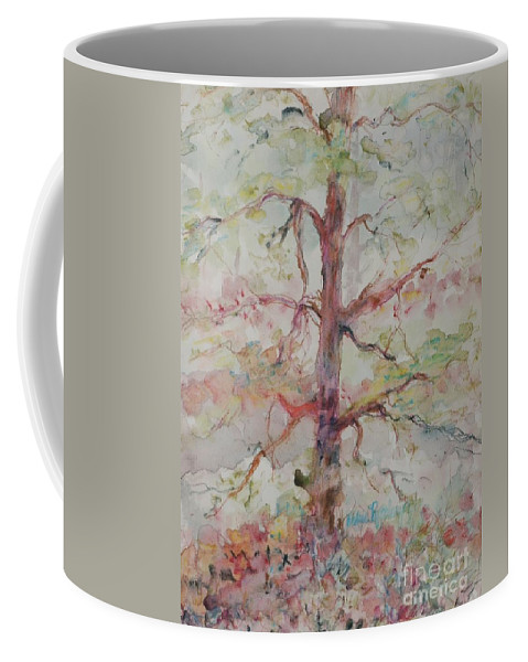 Forest Coffee Mug featuring the painting Pastel Forest by Nadine Rippelmeyer