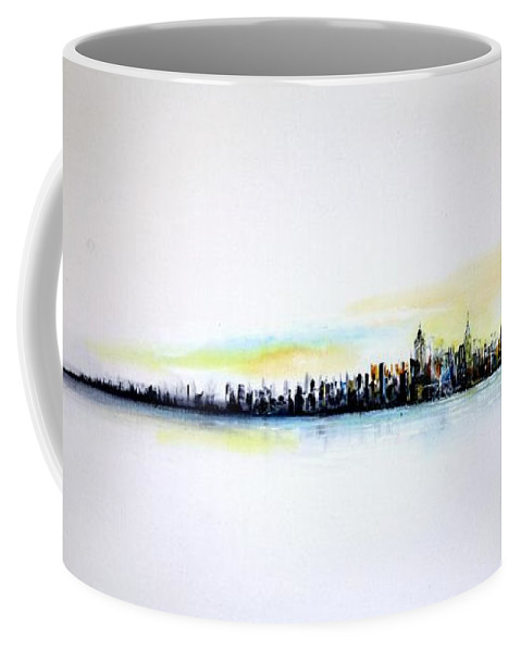 Nyc Coffee Mug featuring the painting Pastel Morning by Jack Diamond