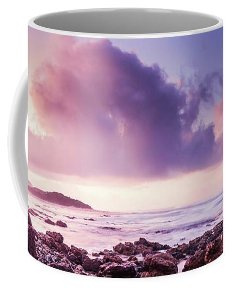 Purple Coffee Mug featuring the photograph Pastel Purple Seashore by Jorgo Photography - Wall Art Gallery