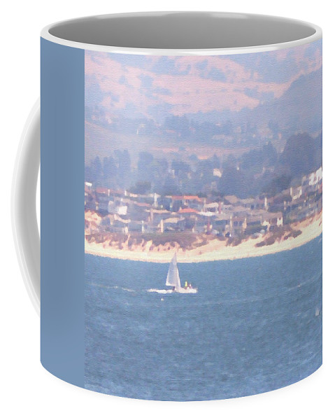 Sailing Coffee Mug featuring the photograph Pastel Sail by Pharris Art